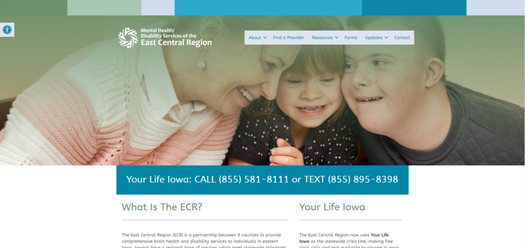 Mental Health/Disability Services of the ECR - Website
